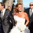 Mariage d'Ingrid Chavin et Thierry Peythieu au Cap-Ferret, le 27 août 2011.