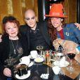 """Exclusif - Régine, Ali Mahdavi, Romain Brau lors du lancement de """"La Guinguette Régine"""" lors d'une conférence de presse au Café Français à Paris, le 14 avril 2014."""
