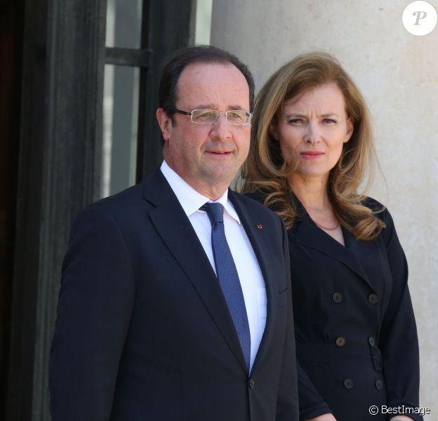 François Hollande et Valérie Trierweiler à l'Elysée, le 6 juin 2013.