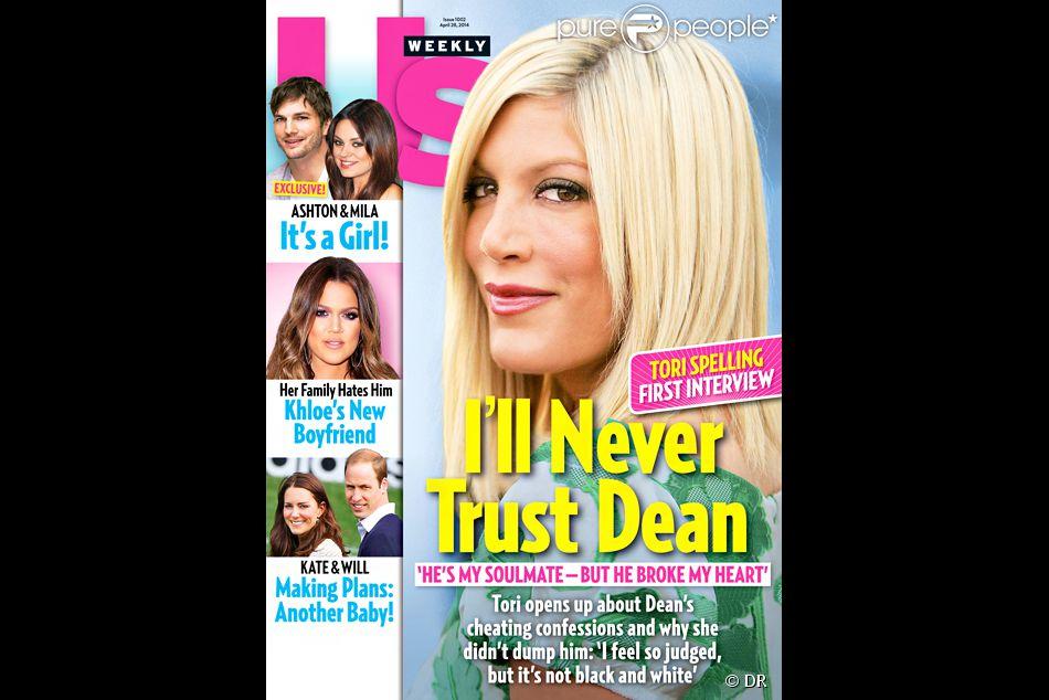 Tori Spelling a livré sa première interview au magazine  Us Weekly  (avril 2014) depuis l'affaire d'adultère à laquelle a été mêlé son mari Dean McDermott.