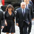 DOMINIQUE STRAUSS-KAHN ET SA FEMME ANNE SINCLAIR ARRIVENT A LA COUR PENALE DE NEW YORK  Dominique Strauss-Kahn and wife Anne Sinclair arrive at NY Criminal Court. (NYC)23/08/2011 - NEW YORK