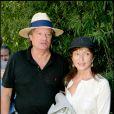 Marie-France Pisier et son mari Thierry Funk-Brentano au tournoi de Roland-Garros, le 10 juin 2006.