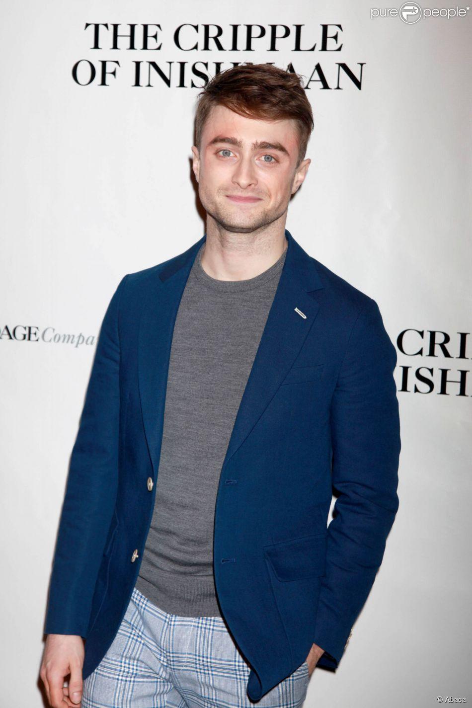 Daniel Radcliffe lors de la générale de la pièce The Cripple of Inishmaan à New York le 20 avril 2014