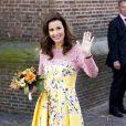 La princesse Anita d'Orange-Nassau assiste avec La reine Maxima et le roi Willem-Alexander des Pays-Bas au Koningsdag (Jour du roi) à De Rijp, le 26 avril 2014 à l'occasion des 47 ans du souverain