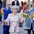 La princesse Beatrix lors du Koningsdag (Jour du roi) à De Rijp, le 26 avril 2014 à l'occasion des 47 ans du souverain Willem-Alexander