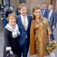 La princesse Margriet des Pays-Bas, le prince Floris et la princesse Aimée d'Orange-Nassau assistent aux côtés de la reine Maxima et du roi Willem-Alexander des Pays-Bas au Koningsdag (Jour du roi) à De Rijp, le 26 avril 2014 à l'occasion des 47 ans du souverain