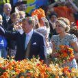 Le roi Willem-Alexander et la reine Maxima des Pays-Bas célébraient pour la première fois de l'histoire des Pays-Bas le Koningsdag (le Jour du roi) à de Rijp, le 26 avril 2014 à l'occasion des 47 ans du souverain