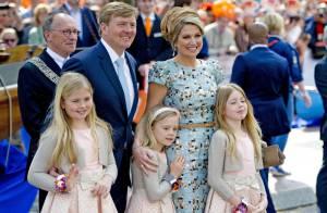 Willem-Alexander, Maxima des Pays-Bas et leurs filles : Emotion le Jour du roi