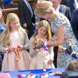 La princesse Catharina-Amalia, la princesse Alexia et la reine Maxima des Pays-Bas lors de la célébration du King Day à Amstelveen, le 26 avril 2014 à l'occasion des 47 ans du roi Willem-Alexander.26/04/2014 - Amstelveen