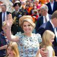 La princesse Alexia, la reine Maxima et la princesse Catharina-Amalia des Pays-Bas lors de la célébration du King Day à Amstelveen, le 26 avril 2014 à l'occasion des 47 ans du roi Willem-Alexander.26/04/2014 - Amstelveen