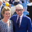 La princesse Annette et le prince Bernhard d'Orange-Nassau lors de la célébration du King Day à Amstelveen, le 26 avril 2014 à l'occasion des 47 ans du roi Willem-Alexander.26/04/2014 - Amstelveen