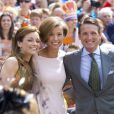 La princesse Aimée, la princesse Marilène et le prince Maurits d'Orange-Nassau lors de la célébration du King Day à Amstelveen, le 26 avril 2014 à l'occasion des 47 ans du roi Willem-Alexander.26/04/2014 - Amstelveen
