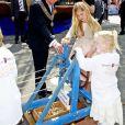 La princesse Catharina-Amalia des Pays-Bas lors de la célébration du King Day à Amstelveen, le 26 avril 2014 à l'occasion des 47 ans du roi Willem-Alexander.26/04/2014 - Amstelveen
