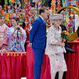 La princesse Beatrix et le prince Constantijn des Pays-Bas lors de la célébration du King Day à Amstelveen, le 26 avril 2014 à l'occasion des 47 ans du roi Willem-Alexander.26/04/2014 - Amstelveen