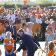 La reine Maxima, la princesse Alexia, la princesse Catharina-Amalia, la princesse Ariane et le roi Willem-Alexander des Pays-Bas lors de la célébration du King Day à Amstelveen, le 26 avril 2014 à l'occasion des 47 ans du roi Willem-Alexander.26/04/2014 - Amstelveen