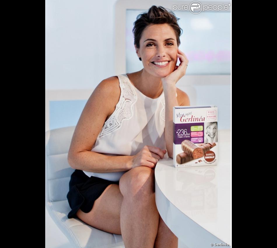 Alessandra Sublet, nouvelle ambassadrice de la marque Gerlinéa. (Mars 2014)