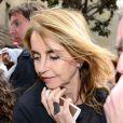 Montserrat Bernabeu (mère de Gérard Piqué) lors des obsèques de Tito Vilanova l'ex-entraîneur du Barça, en la cathédrale de Barcelone le 28 avril 2014