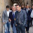 Eusebio Sacristán (entraîneur de la réserve du FC Barcelone) lors des obsèques de Tito Vilanova l'ex-entraîneur du Barça, en la cathédrale de Barcelone le 28 avril 2014