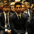Gerard Piqué lors des obsèques de Tito Vilanova l'ex-entraîneur du Barça, en la cathédrale de Barcelone le 28 avril 2014