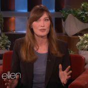 Carla Bruni : Radieuse et rigolote chez Ellen DeGeneres, sous le charme