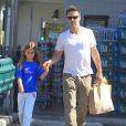 David Arquette et sa fille Coco à Beverly Hills, le 6 juillet 2012.