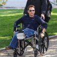 Kevin Connolly, en fauteuil roulant le tournage du film Entourage. Los Angeles, le 1er avril 2014.