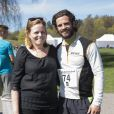 Exclusif – Carl Philip de Suède prend la pose après la course de charité organisée par le fond Lilla Barnets pour la recheche néonatale, au parc Haga de Stockholm le 26 avril 2014.