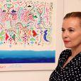 Exclusif - Valérie Trierweiler, Saida Jawad et Valérie de Senneville assistent au vernissage de l'exposition de tableaux de Tahar Ben Jelloun à la galerie Tindouf à Marrakech le 26 avril 2014.