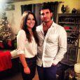 Julie et Denis, lors du nouvel an 2014. Photo postée sur le compte Twitter de Julie