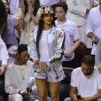 Rihanna  assiste au match de la NBA Miami Heats vs Brooklyn Nets à Miami, le 8 mai 2014.