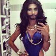 Grande gagnante de la finale de l'Eurovision 2014 (qui s'est déroulée le 10 mai 2014), Conchita Würst n'hésite pas à prendre la pose en petite tenue sur les réseaux sociaux.