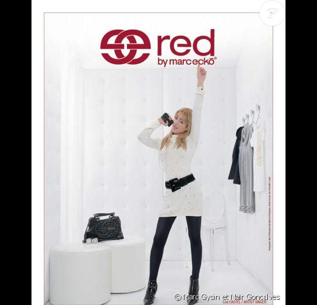 Léa Castel pose pour Red by Marc Ecko