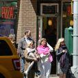 Exclusif - La princesse Märtha-Louise de Norvège à New York avec des amis le 24 avril 2014