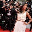 Zoe Zaldana, égérie L'Oréal Paris, arrive pour la montée des marches de Cérémonie d'ouverture avec la projection du film Grace de Monaco. 14 mai 2014