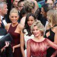 """Jane Fonda - Montée des marches du film """"Grace de Monaco"""" pour l'ouverture du 67 ème Festival du film de Cannes – Cannes le 14 mai 2014"""