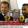 Olivier Benkemoun d'i>télé perturbé par un intermittent à Cannes, le 14 mai 2014