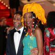 Hichem Yacoubi et Fatoumata Diawara lors de la montée des marches du film Timbuktu au 67e Festival de Cannes, le 15 mai 2014.