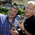 Exclusif - Jean-Marie Bigard et Franck Dubosc - Le 1er Trophée du Sud des Alpes à Mougins a eu lieu sur la Côte d'Azur du 2 au 4 mai.