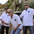 Franck Dubosc et Jean-Marie Bigard - Le 1er Trophée du Sud des Alpes à Mougins a eu lieu sur la Côte d'Azur du 2 au 4 mai.