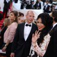 Ayem Nour arrive au Palais des Festivals pour le film Dragons 2, à Cannes, pour le 67e Festival de Cannes, le vendredi 16 mai 2014