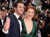 Cannes 2014 : Léa Seydoux et un décolleté insolent devant le chic Gaspard Ulliel