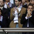 Anne Hidalgo et Nicolas Sarkozy lors du match Psg-Montpellier au Parc des Princes à Paris, le 17 mai 2014