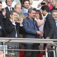 Nicolas Sarkozy et Nasser al-Khelaïfi assistent au match Psg-Montpellier au Parc des Princes à Paris, le 17 mai 201417/05/2014 - Paris