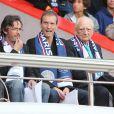 Florian Gazan et l'architecte Roger Taillibert assistent au match Psg-Montpellier au Parc des Princes à Paris, le 17 mai 201417/05/2014 - Paris