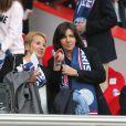 Anne Hidalgo assiste au match Psg-Montpellier au Parc des Princes à Paris, le 17 mai 2014