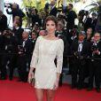 Alexandra Rosenfeld à la montée des marches de The Homesman, à l'occasion du 67e Festival de Cannes, le 18 mai 2014.