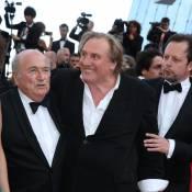 Cannes 2014 : Gérard Depardieu heureux footeux, Mélanie Laurent aux anges