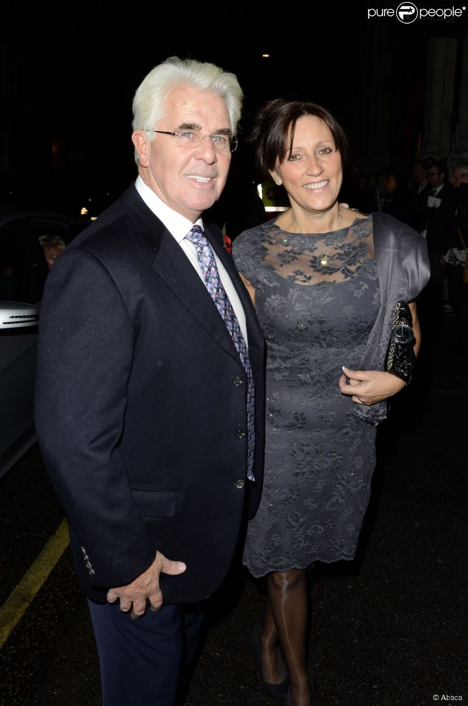 Max Clifford et son épouse Jo à Londres, le 29 octobre 2012.