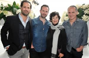 Cannes 2014-rencontres : Marie-José Nat, émue avec ses fils, et Jimmy Jean-Louis