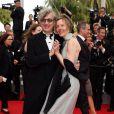 """Wim Wenders et sa femme Donata - Montée des marches du film """"The Search"""" lors du 67e Festival du film de Cannes le 21 mai 2014"""
